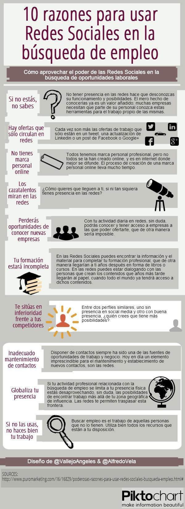 [Infografía] 10 razones para usar redes sociales en la búsqueda de empleo